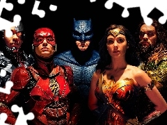 Gal Gadot - Wonder Woman, Jason Momoa - Aquaman, Ben Affleck