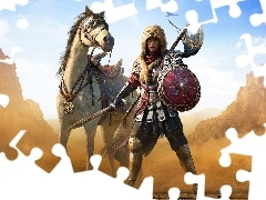 Bayek, Koń, DLC, Dodatek, Assassins Creed Origins Roman Centurion Pack