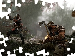 Wiking Berserk, For Honor, Samuraj Shinobi